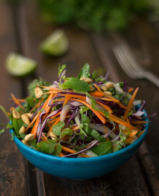 Como reconocer los antioxidantes y una ensalada vietnamita ( crocante y refrescante )