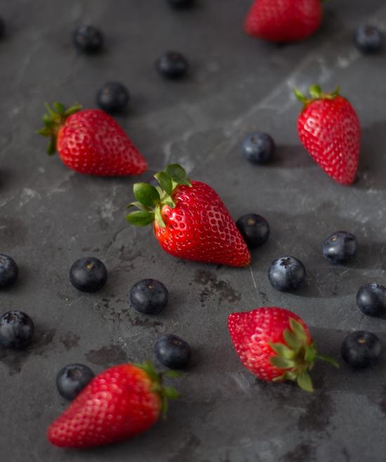 Clafoutis de frutos rojos ( sin gluten)